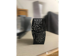 voronoi tealight candle holder vase