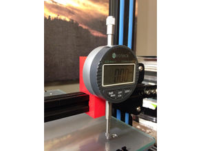 CR-10 Dial Indicator Mount for X-Axis Rail