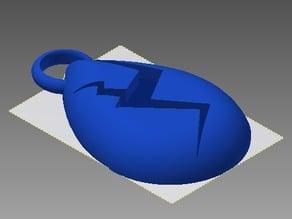 Lapis Lazuli Gem Keychain