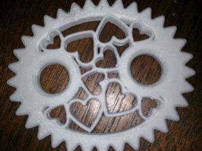 Elliptical Gear with Hearts