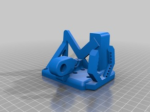 Jubaleth Prusa i3/Hesine M505 (Anet A8 compatible) x Carriage for E3Dv6 (Bowden) 12mm sensor mount