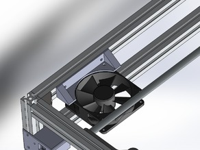 80mm Fan support for Ramps on 2020 aluminium extrusion ( Roxanne upgrade )