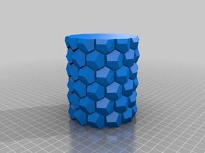 My Customized Honeycomb vase parametric2