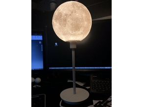 Moon lampshade reduction for Ikea SKAFTET lamp