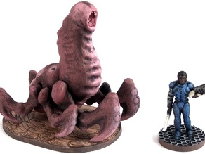 Cave Worm, 28mm Miniature