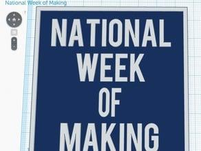 National Week of Making