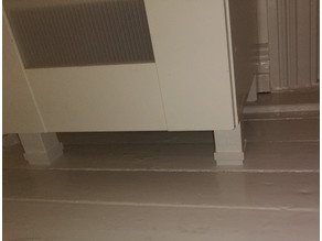 Parametric furniture foot extender
