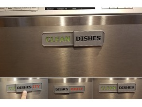 Clean Dishes, Dishes Dirty, dishwasher sliding sign