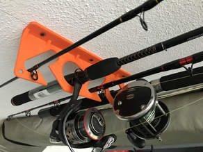 4 Fishing Rod Rack Wall/Ceiling