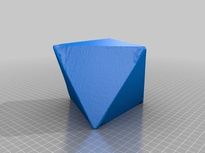 Isometric Crystal Model (Octohedron)