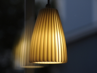 Folded plastic lamp shade