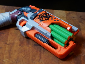 Spiralized Cylinder for the Nerf Hammershot 8-shot Mod