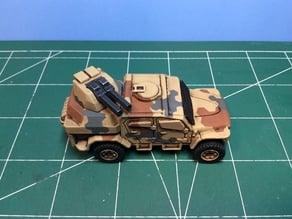 Gun turret for Matchbox MXT toy truck.