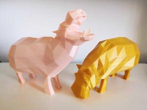 Low poly hippos !