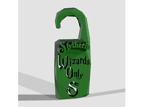 """Wizards Only"" Slytherin - by Objoy Creation"