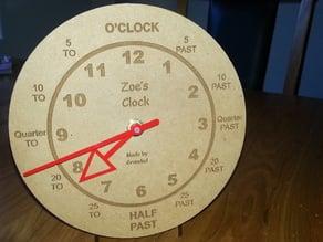 Training Clock Laser Engraved