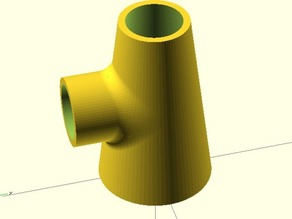 OpenSCAD beveling tube connection