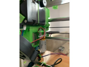 Prusa i3 MK3 R3 X-Carriage with Titan Extruder BlTouch