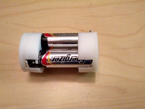 3x AA to D battery adapter (no soldering required)