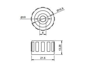 Volkswagen radio knob button