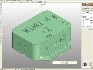 WIMUv4 Packagaing from OpenSCAD Parametric Packaging Script v2