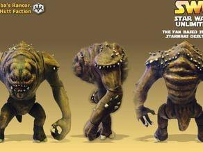 Jabba's Rancor. (posable figure)