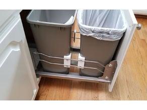 Rev-A-Shelf Pull Out Kitchen Trashcan Brackets