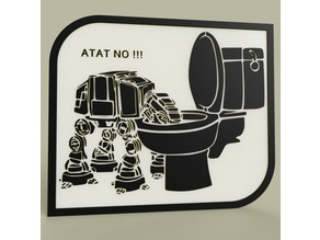 StarWars - ATAT drinks in the toilet bowl - NO