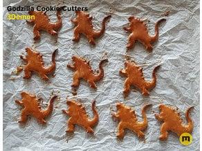 Godzilla Cookie Cutters