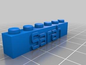 My Customized Lego Block Sarah