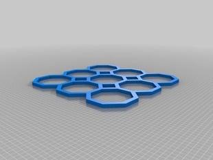Simple octagon tiling lattice function