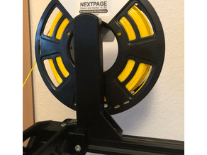 CR10(S) spool holder, top mount, compatible to frame braces