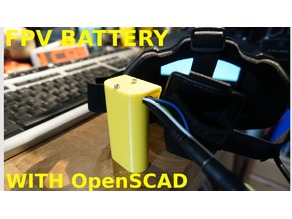 2s 18650 FPV Googles Battery Case.