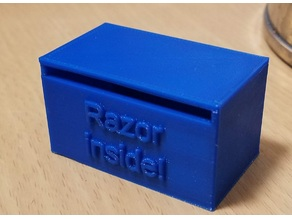 Customizable DE razor disposal box