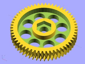 Ekobots - Gears simple and double helical tooth