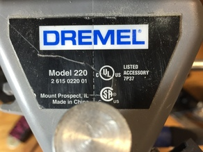 Mini Drill Press, Dremel Press Adapter