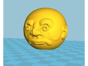 Funny Bust Face Dandelion Seed Head