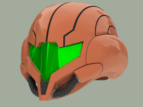 Wearable Samus Aran Helmet (Metroid Prime 3)