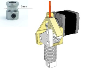 Dasaki Compact Direct Drive Extruder for Prusa i3 (MK8 drive gear)