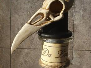 Raven Skull Bottle Stop