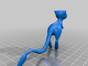 Mew Normal and Low Poly