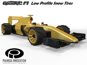 Low Profile Snow Tires for OpenR/C F1 car