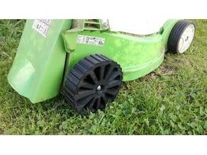 Rear wheel of electric mower. Viking ME235