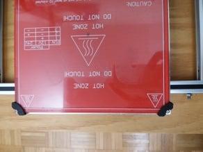 Heat Bed Glass Holder
