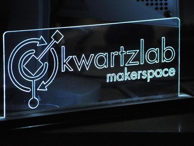 Acrylic Edge Lit LED Sign by markp - Thingiverse