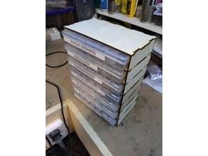 Stackable Box organizer 28 grid Laser enclosure