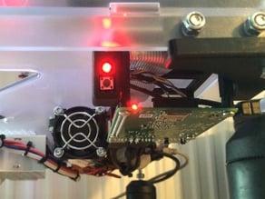 Simple Raspberry B+ Holder K8400 Vertex with power-button Case