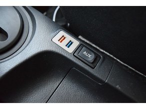 Toyota Yaris USB Switch Hole Cover