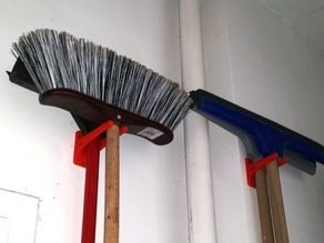 Broom and wiper hanger