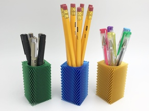 Square Spiral Pencil Holder